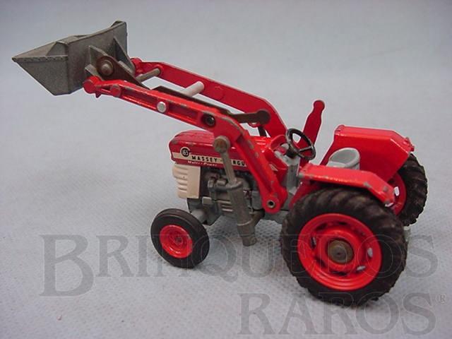 Brinquedo antigo Trator Massey Ferguson Tractor with Shovel