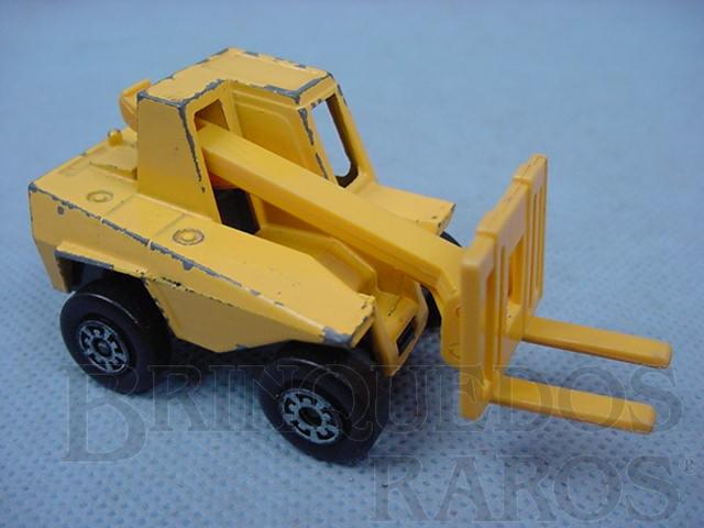 Brinquedo antigo Empilhadeira Sambron Jacklift Superfast amarelo Brazilian Matchbox Inbrima 1970