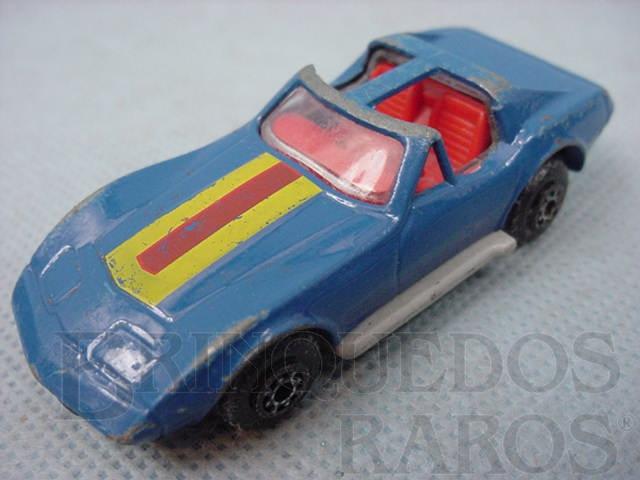 Brinquedo antigo Chevrolet Corvette T Roof Superfast azul Brazilian Matchbox Inbrima 1970