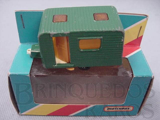 Brinquedo antigo Trailer Caravan Superfast verde Brazilian Matchbox Inbrima 1970