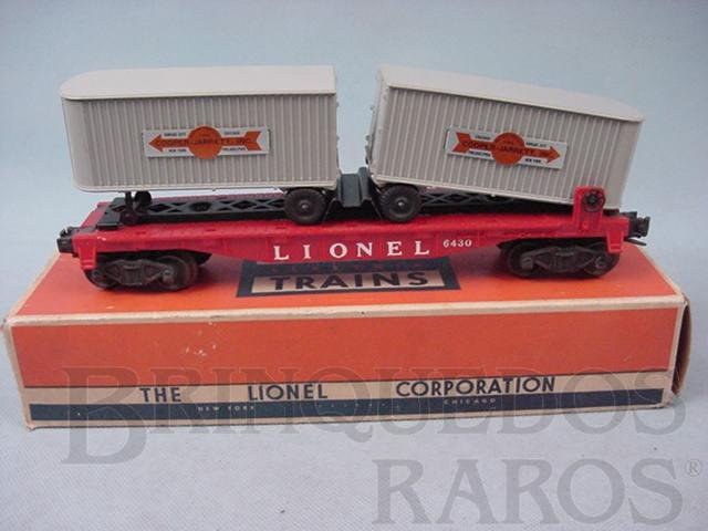 Brinquedo antigo Vagão 6430 Trailer Flat Car Ano 1955 a 1958