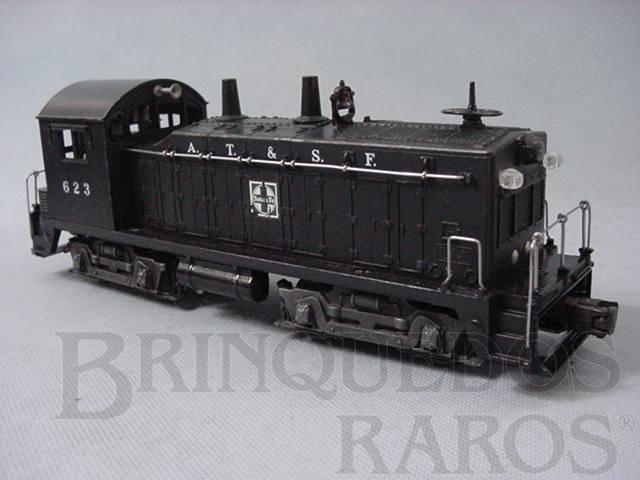 Brinquedo antigo Locomotiva 623 Santa Fé Yard Switcher Ano 1952 a 1954