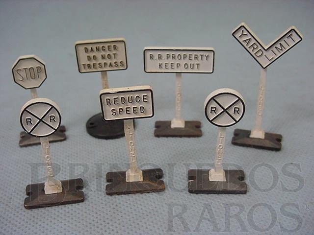 Brinquedo antigo Placas de sinalização avulsas 309 Yard Sign Set Ano 1950 a 1959 Preço por unidade