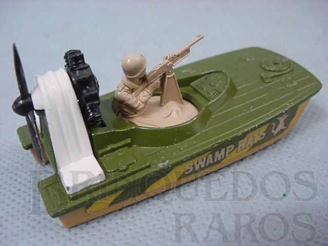 Brinquedo antigo Swamp Rat Superfast verde e branco Brazilian Matchbox Inbrima 1970