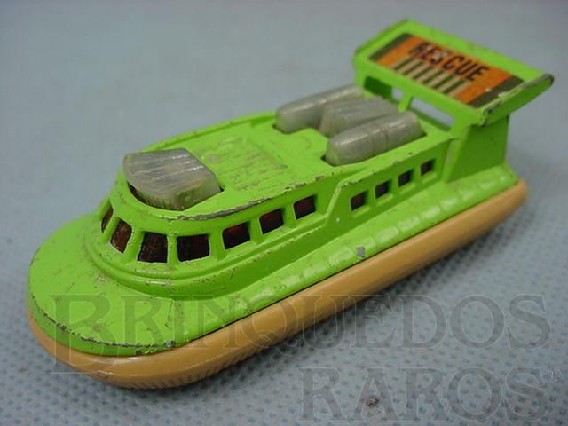 Brinquedo antigo Rescue Hovercraft Superfast verde Brazilian Matchbox limão Inbrima 1970