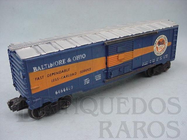 Brinquedo antigo Vagão 6464400 Box Baltimore and Ohio Ano 1956