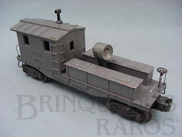 Brinquedo antigo Vagão 6420 D.L. + W. Work Caboose Ano 1949 a 1950