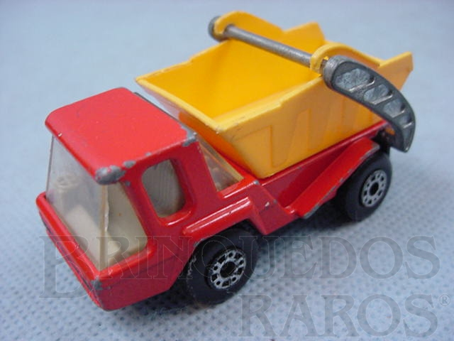 Brinquedo antigo Skip Truck Superfast vermelho Brazilian Matchbox Inbrima 1970