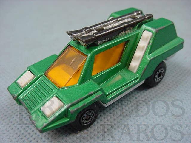 Brinquedo antigo Cosmobile Superfast verde metálico Brazilian Matchbox Inbrima 1970