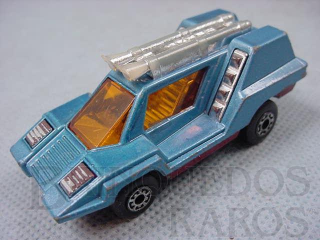 Brinquedo antigo Cosmobile Superfast azul Brazilian Matchbox Inbrima 1970