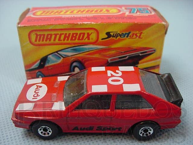 Brinquedo antigo Audi Quattro Superfast vermelho Brazilian Matchbox Inbrima 1982