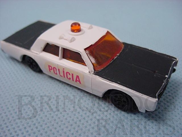 Brinquedo antigo Cruiser Policia Muky Superveloz com carroceria de plástico rígido cópia do Police Cruiser lançado pela Hot Wheels em 1969 Década de 1970