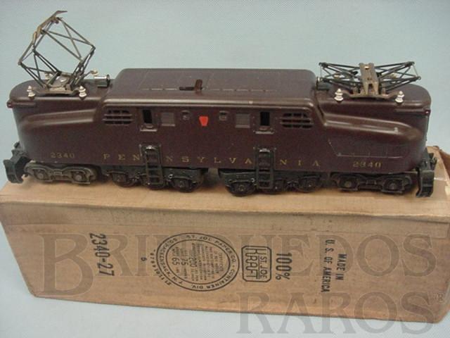 Brinquedo antigo Locomotiva Eletrica 2340 Tuscan Red Pennsylvania GG1 without the gold stripers Ano 1955