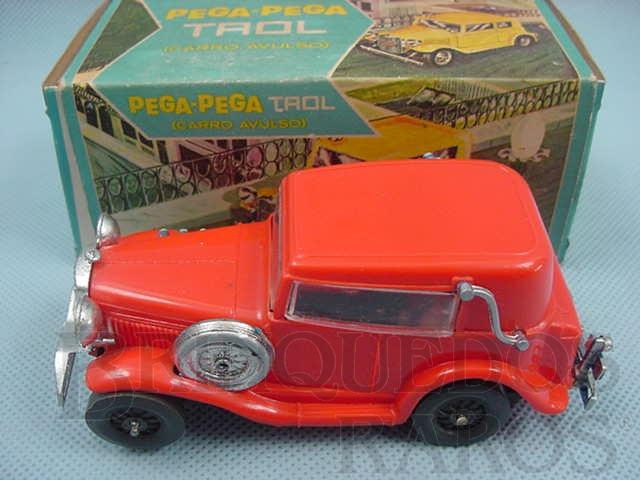 Brinquedo antigo Carro avulso para Pega Pega Trol vermelho