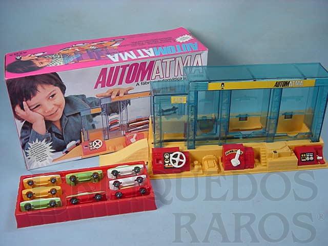 Brinquedo antigo Automatma Fábrica automática de carros perfeito estado completa Década de 1970