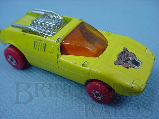 Brinquedo antigo Mod Rod Superfast rodas vermelhas