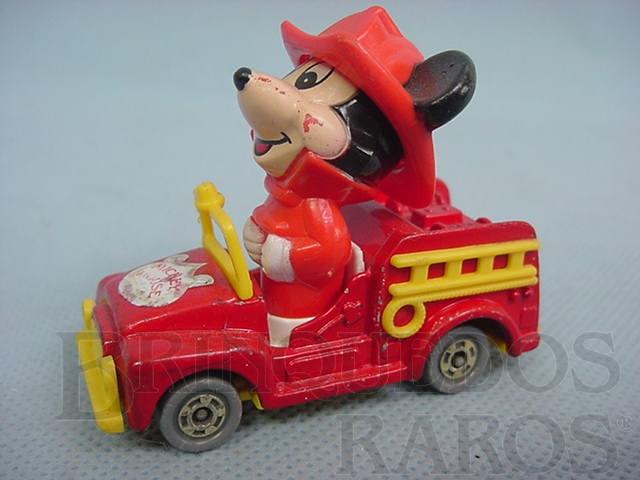 Brinquedo antigo Bombeiro do Mickey com 6,50 cm de comprimento Walt Disney Década de 1980
