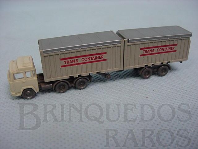Brinquedo antigo Cavalo Mecânico Magiruz Deutz e carreta com container