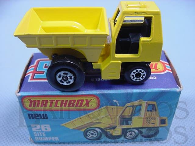 Brinquedo antigo Site Dumper Superfast caçamba amarela