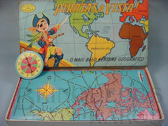 Brinquedo antigo Jogo Piratas a Vista Década de 1960