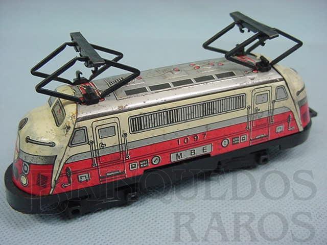 Brinquedo antigo Locomotiva eletrica M.B.E. Ferrorama Década de 1960