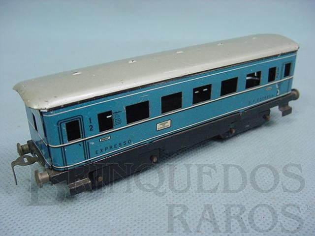 Brinquedo antigo Carro de Passageiros E.F.E. azul