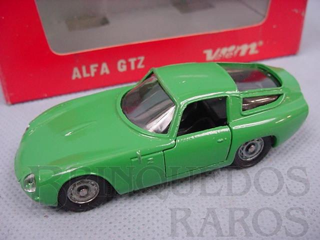 Brinquedo antigo Alfa Romeo Giulia TZ Le Mans 1964 verde Cópia Solido  Datada 6-1966