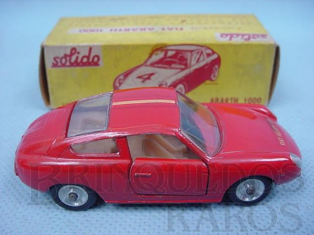Brinquedo antigo Fiat Abarth 1000 vermelho Datado  9-1962