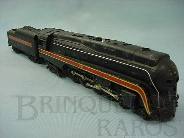 Brinquedo antigo Locomotiva 746 Norfolk and Western Ano 1957