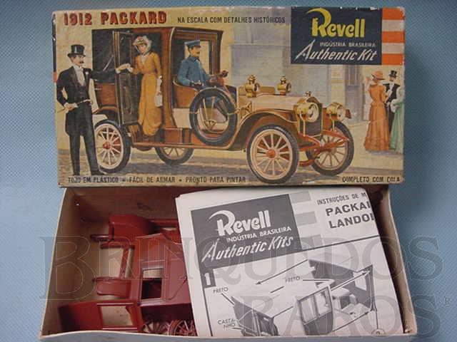Brinquedo antigo Carro Packard Landolé 1912 Caixa dura Década de 1960