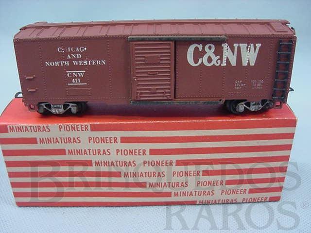 Brinquedo antigo Vagão Box Chicago + North Western Década de 1960
