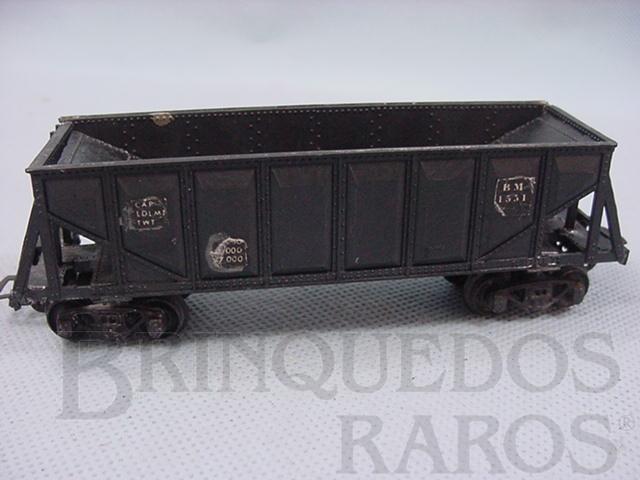 Brinquedo antigo Vagão Hopper preto Década de 1960