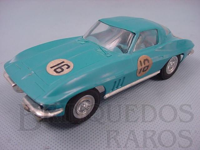 Brinquedo antigo Corvette Sting Ray 1965 azul versão home