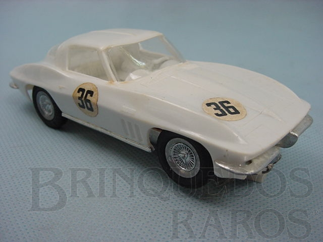 Brinquedo antigo Corvette Sting Ray 1965 branca versão home