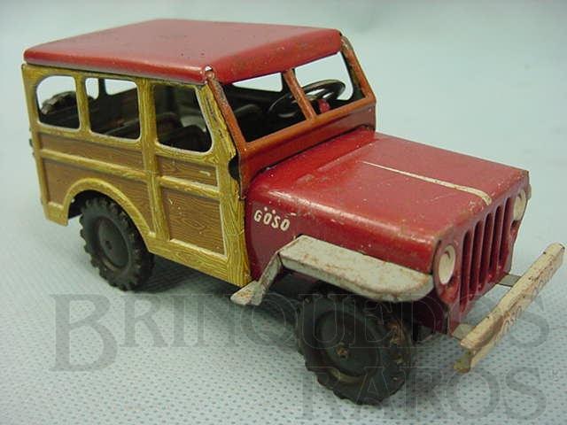 Brinquedo antigo Jeep Rural Willys com 12,00 cm de comprimento  Made in US Zone Ano 1952 Matriz da Rural fabricado pela Metalma