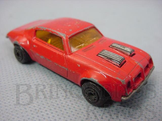 Brinquedo antigo Pontiac Firebird Superfast vermelho Brazilian Matchbox Inbrima 1970