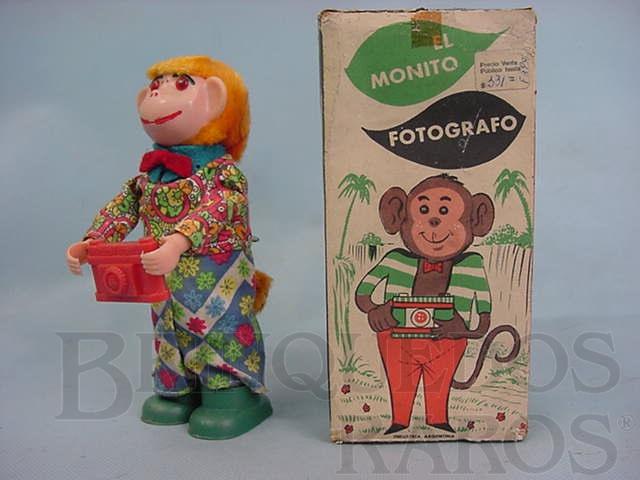 Brinquedo antigo Macaco El Monito Fotografo Década de 1970
