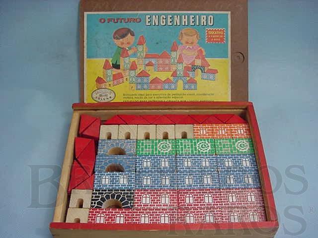 Brinquedo antigo Conjunto de Montar Futuro Engenheiro completo Década de 1970
