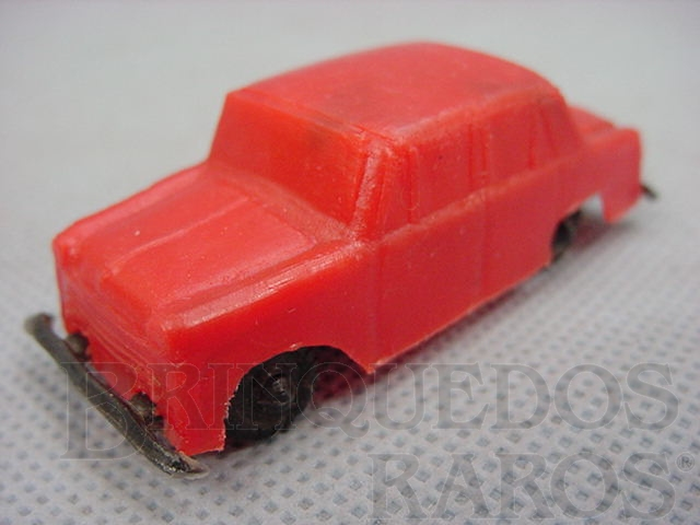 Brinquedo antigo Aero Willys com 6,00 cm de comprimento Brinde Toddy autentico Carroceria Toddy numerada 6 e Chassi Toddy numerado 6 Década de 1960