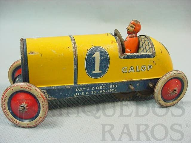 Brinquedo antigo Carro Rennwagen Galop com 14,00 cm de comprimento Ano 1929