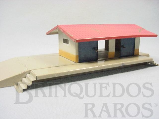 Brinquedo antigo Estação de carga cm 23,00 cm de comprimento Made in US Zone Década de 1950