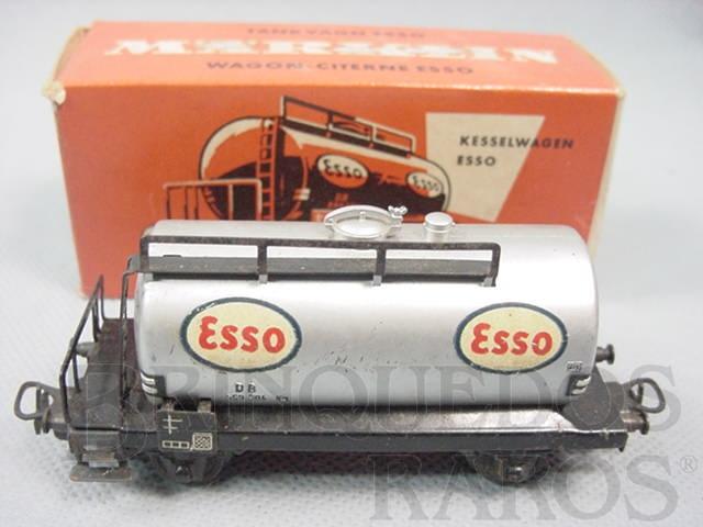 Brinquedo antigo Vagão tanque de dois eixos Esso Década de 1960