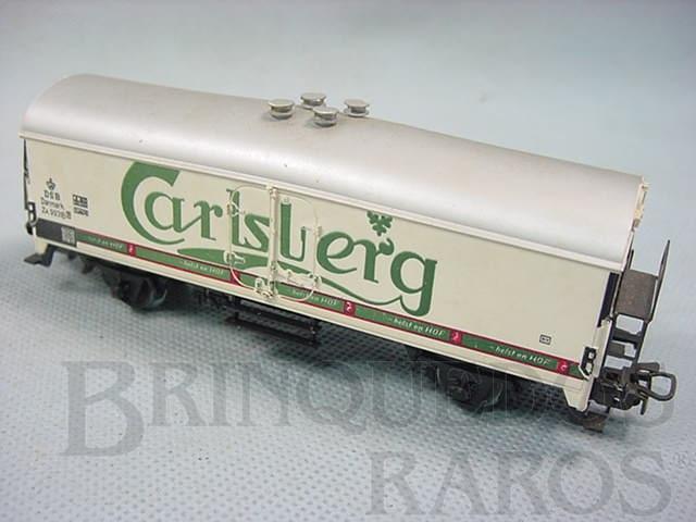 Brinquedo antigo Vagão furgão Cerveja Carlsberg Década de 1960