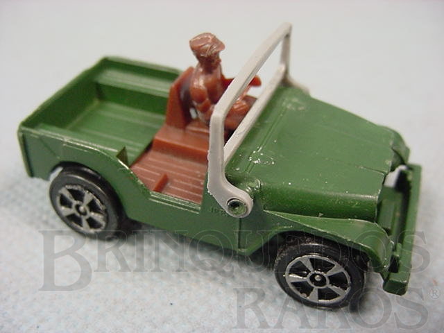 Brinquedo antigo Jeep Willys verde Corgi Jr Whizzwheels