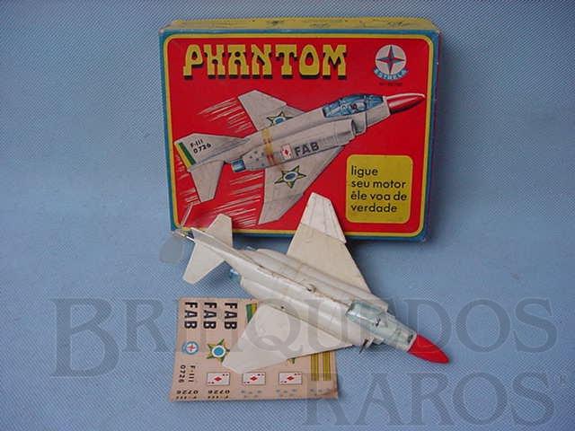Brinquedo antigo Avião Phantom com 17,00 cm de comprimento Década de 1960