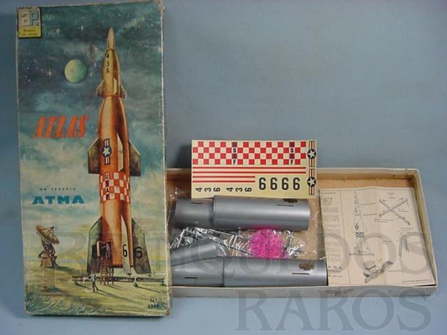 Brinquedo antigo Foguete Atlas Década de 1960