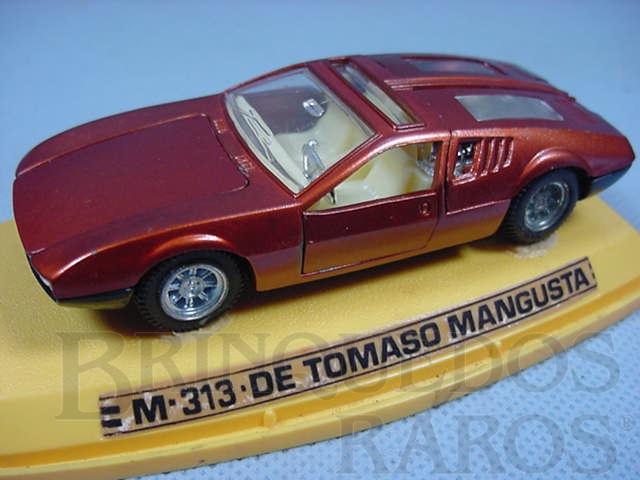 Brinquedo antigo De Tomaso Mangusta Abre cinco portas Década de 1970
