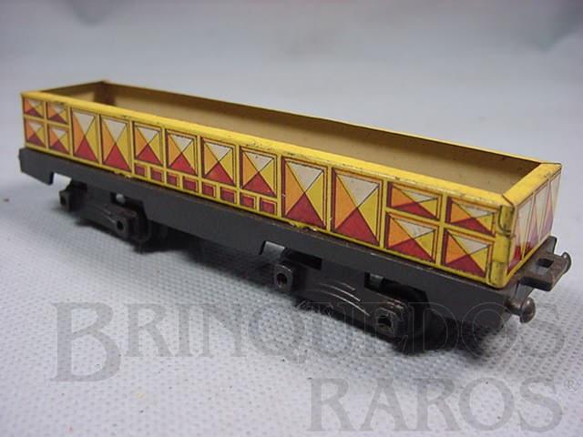 Brinquedo antigo Vagão Gôndola Ferrorama amarelo Década de 1960