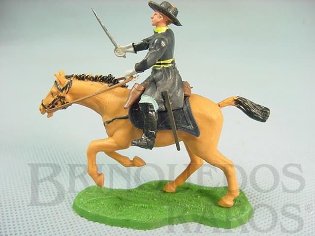 Brinquedo antigo Comandante da União a Cavalo com Sabre Década de 1960