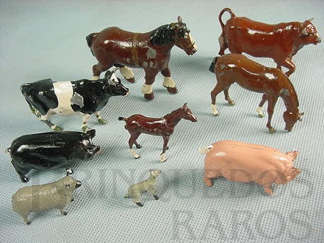 Brinquedo antigo Animais domésticos diversos Farms Série Década de 1930
